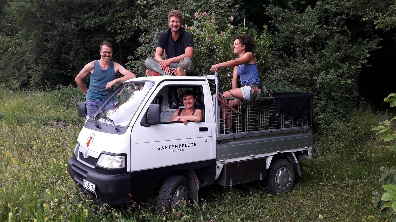 Teamfoto, Gartenpflege Bader